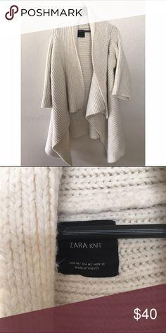 ZARA KNIT SHAWL CARDIGAN SWEATER KNIT SZ M Awesome coat Zara Sweaters