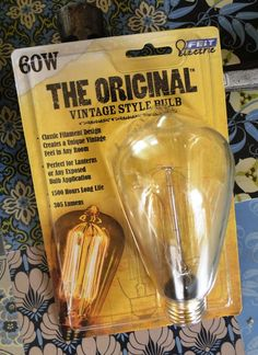 """The Original Vintage Style Bulb""  Who Knew?"