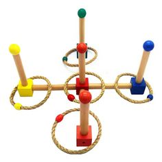 Color Ring Toss Game