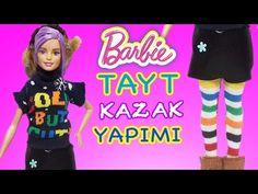 Barbie Oyuncak Bebekler için Tayt ve Kazak | Nasıl Yapılır | Oyuncak Butiğim - YouTube