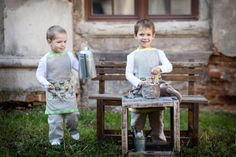 Kids  kitchen apron  Linen children's crafts by LinenHomeShop