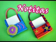 Manualidades con palitos: Porta-notitas Cute  ♥♥♥