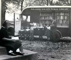 Atlantic County Library System's bookmobile at Nesco in 1950. - bookmobiles rock.