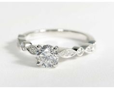 0.9 Carat Diamond Milgrain Marquise and Dot Diamond Engagement Ring | Recently Purchased | Blue Nile