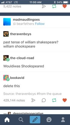 WOULDIWAS SHOOKSPEARED
