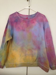 Beautiful Ice Dyed Sunset XL Sweatshirt. on Etsy, $30.00