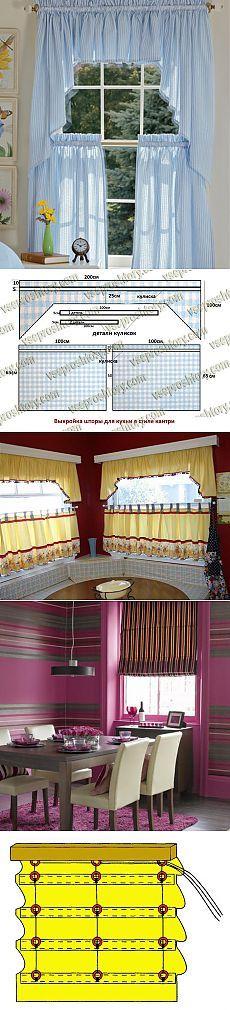 Los patrones de cortinas para la cocina