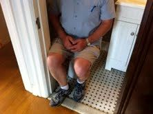 """Are you kidding me?  They called this a """"half bathroom""""?  I couldn't even close the door!"""