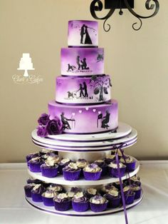 story Wedding Cake - purple - Cake by Clare's Cakes - Leicester