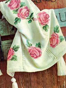 Rose Afghan | Number 742-1 | Crochet Pattern ✿⊱╮Teresa Restegui http://www.pinterest.com/teretegui/✿⊱╮