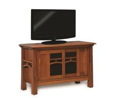 "Amish 48"" Artesa TV Stand The Artesa adds flair with its exceptional woodworking, including curves and tapered legs that stand out. You can customize the Artesa with choice of wood, finish and door style."