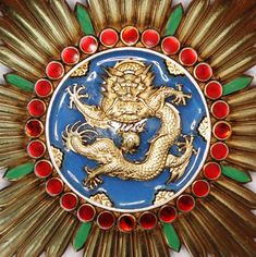 Dai Nippon Military Antiques Manchukuo Illustrious Dragon Medal