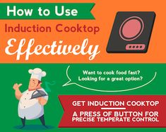 How To Use Induction Cooktop Effectively Infographic - Induction Basil Pasta, No Cook Meals, Being Used, Health And Wellness, Cooking, Posts, Kitchen Tips, Partner, Infographics