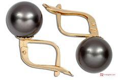 Extra Tahiti Pearl Earrings 9½mm in Gold 18K m Orecchini Perle Tahiti Extra 9½mm in Oro 18K m
