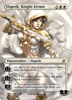 Altered MTG cards:  Elspeth, Knight-Errant