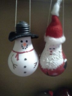 Snowman & Santa. One of my first attempts.