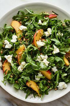 NYT Cooking: This simple, quintessential summer salad is a reminder that seasona. - Cooking NYT Cooking: This simple, quintessential summer salad is a reminder that seasona. NYT Cooking: This simple, quintessential summer salad is a remi Soup And Salad, Pasta Salad, Basil Recipes, Arugula Salad Recipes, Kale Salads, Roasted Beet Salad, Lentil Salad, Fresco, Bowls