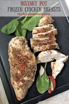 For chicken breasts frozen together .add 4 extra minutes and pressure cook for 16 total minutes. Chicken Tenderloin Recipes, Chicken With Italian Seasoning, Frozen Chicken Recipes, Instant Pot Dinner Recipes, Pressure Cooker Recipes, How To Cook Chicken, Cooking Recipes, Kid Recipes, Recipies
