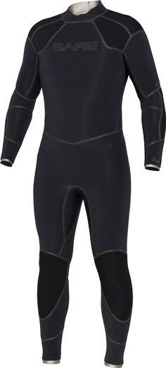 Bare 7mm Elastek Full Suit Men's Wetsuit, Black- Large/Short