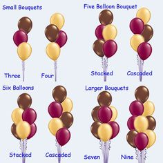 Helpful to know how many balloons to buy for a balloon bouquet. If the need ever arises.