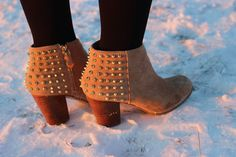 Studded... 4 of my coworkers have these. LOL. ZARA
