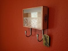 Reclaimed Wood Cigar Box Hat / Key Rack. by RaccoonWoodworks