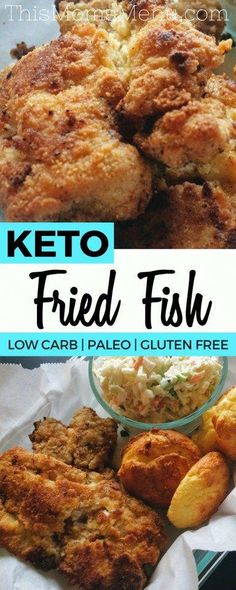Low Carb Recipes This Keto Fried Fish is seriously delicious! Eat it as is, or serve it on your favorite low carb bun with some tartar sauce for a delicious fish sandwich! You won't believe that it's low carb, gluten free and paleo friendly! Keto Foods, Ketogenic Recipes, Low Carb Recipes, Diet Recipes, Ketogenic Meals, Recipes Dinner, Pescatarian Recipes, Paleo Meals, Fish Recipes Gluten Free