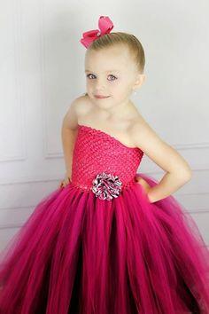 Newborn - Size 9 Hot Pink and Black Zebra Tutu Dress