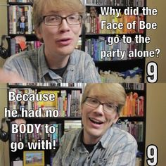 Hank Green telling a Doctor Who joke. This pleases me.