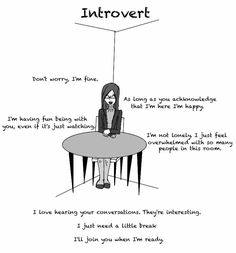 "Introvert | ""I love hearing your conversations. They're interesting"" << Everyday at lunch!"