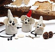 muizen familie gemaakt van zlef hardende klei! Maak een papa,mama, broertje, zusjes....