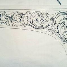Finding A Career In Architecture - Drawing On Demand Filigree Tattoo, Engraving Art, Picture Engraving, Free Hand Designs, Drawing Furniture, Arabesque, Ornament Drawing, Wood Carving Designs, Tanjore Painting