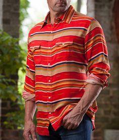 Ryan Michael Men's Serape Stripe Shirt Western Shirt