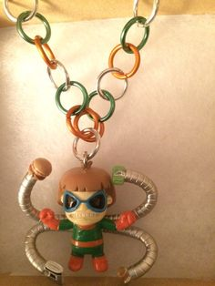 Dr. Octopus Tokidoki Orange Silver and Green by inthespicerack