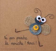 Ne pas prendre la mouche, merci ;-) #jeans #recycle   http://pinterest.com/fleurysylvie/mes-creas-la-collec/ et www.toutpetitrien.ch