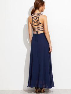 SHEINLace Up Back Cami Dress