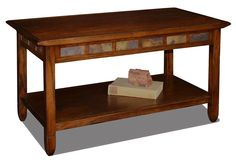 Leick+Furniture+-+Coffee+Table+in+Rustic+Oak+Finish