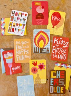 print & pattern: GREETINGS - lynn giunta + hallmark