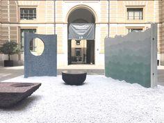||| MUST SEE #7  Petrified Carpets | Studio Ossidiana  Via Santa Marta 18 Il tappeto persiano reinterpretato in elementi architettonici in calcestruzzo.  #WEBLOGsaloni 2017 | WEBLOG @isaloni
