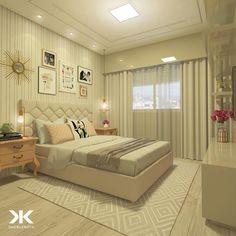 """1,063 curtidas, 11 comentários - DANIEL KROTH Arquitetura (@danielkroth) no Instagram: """"Dormitório do casal super personalizado com cores leves e suaves.Destaque para os criados retrôs na…"""""""
