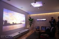 Sony's Life Space UX demo. 147in image projected mere inches away from the wall.  $30,000.00 - $40,000.00