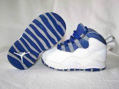 White/Royal Blue 10s