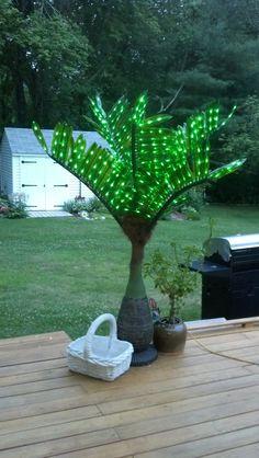 Love my LED bottle palm tree