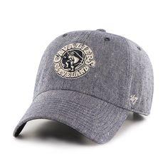Cleveland Cavaliers Strike Through Clean Up Navy 47 Brand Adjustable Hat
