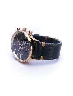 SAN TORPE Aeolvs Watch - Vintage Effect Leather Strap