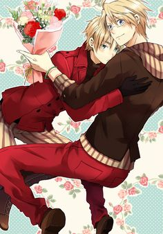 Hetalia UsUk <3  Yeah!! Found it from here : https://www.fanfiction.net/s/6549843/9/And-All-That-Jazz