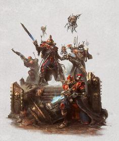 Warhammer Adeptus Mechanicus, Imperium of Man. Warhammer 40k Art, Warhammer Fantasy, Warhammer Armies, Warhammer Models, Fantasy Battle, Fantasy Art, Imperial Knight, Dark Eldar, Fantasy Miniatures