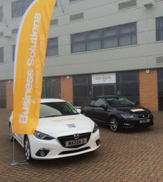 The amazing Mazda3 and SEAT Leon at a @Business Connected networking event.