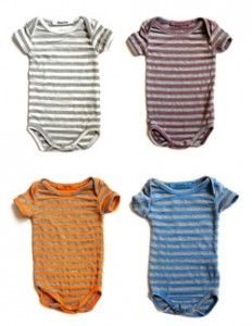 striped onesies- - -could make these from old t-shirts