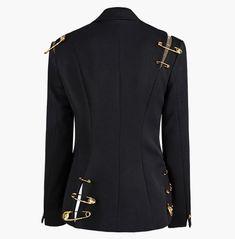 Streetwear Black Lapel Collar Pin Splice Design Button Pocket Cotton Blazer Black Blazers, Blazers For Women, Suits For Women, Jackets For Women, Designer Leather Jackets, Cotton Blazer, Printed Blazer, New Outfits, Autumn Fashion
